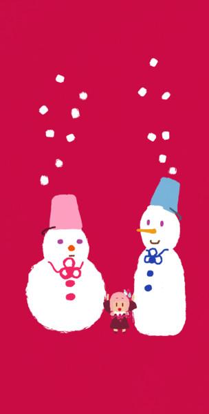 雪を降らせる茜ちゃん