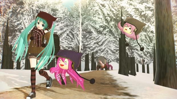 雪の並木道