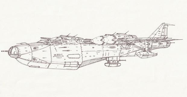 二式空間航宙飛行艇「自作機」