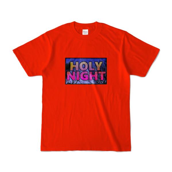 Tシャツ レッド HOLY_NIGHT_TONIGHT