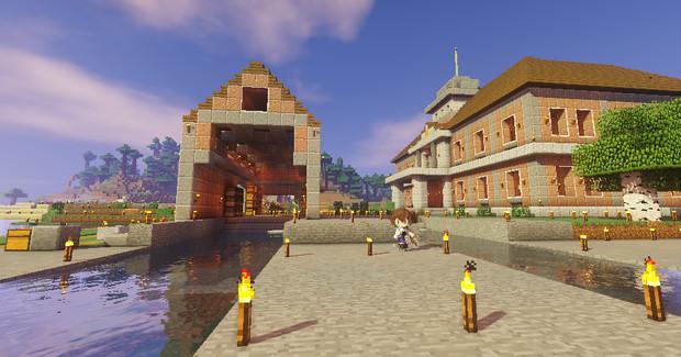 #Minecraft 工廠の外 #JointBlock