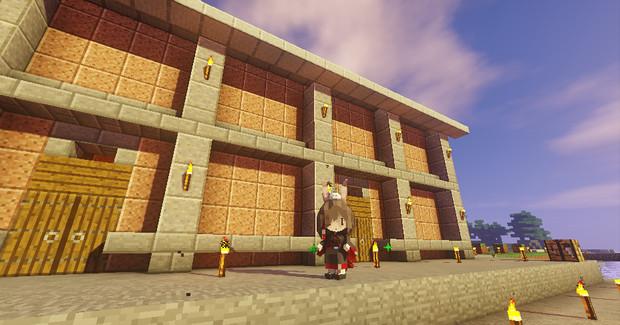 #Minecraft 倉庫と不知火 #JointBlock