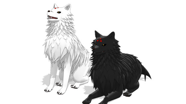 【MMD呪術廻戦】玉犬【モデル配布】