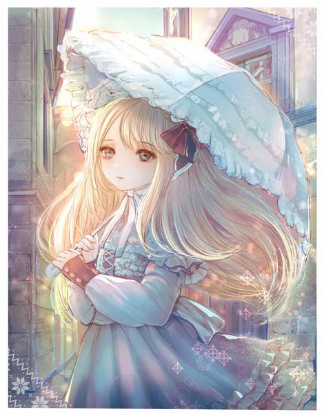 日傘の少女(厚塗り)