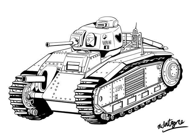 88のおやつその1~フランス陸軍・ルノーB1重戦車くん