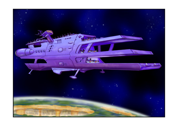 ガミラス三段空母ランベアガミラス星