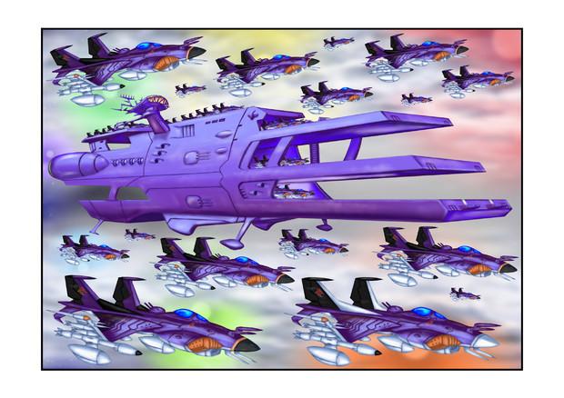 ガミラス三段空母ランベア七色星団艦載機