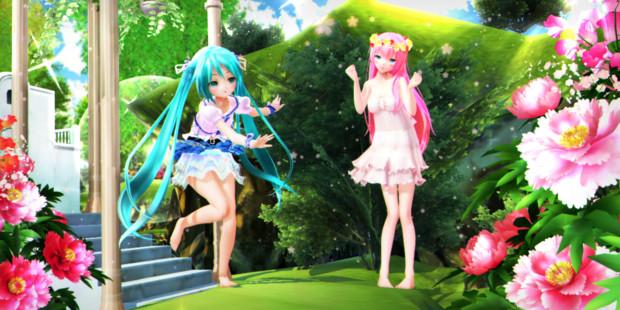 【今日のYYBルカさん】緑とお花の楽園♪