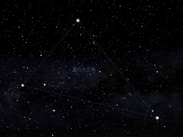 Stellarium 夏の大三角