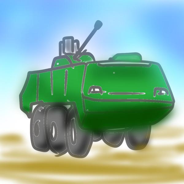 機関砲を搭載した装輪装甲戦闘車