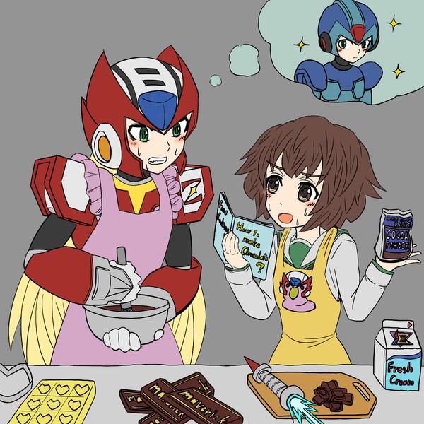 エックスの為にチョコを作るゼロと手伝う秋山殿