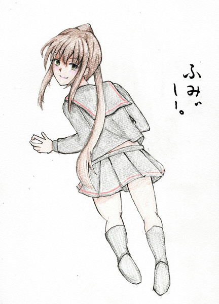 文月さんとお絵描き練習3