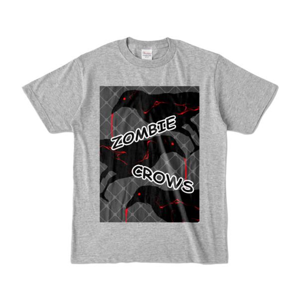 Tシャツ   杢グレー   ゾンビカラスちゃん