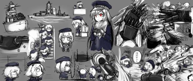 SDフランス海軍 スケッチ