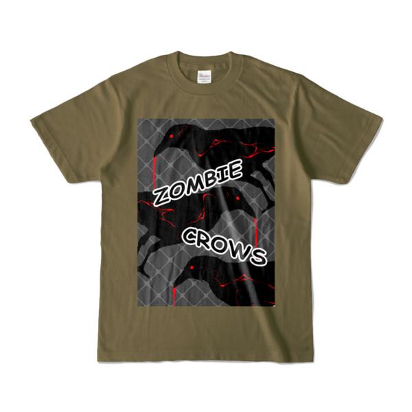 Tシャツ | オリーブ | ゾンビカラスちゃん