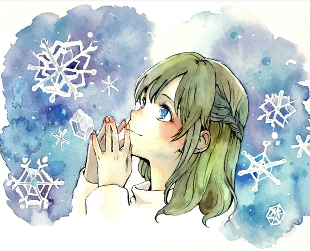 白いセーターの女の子