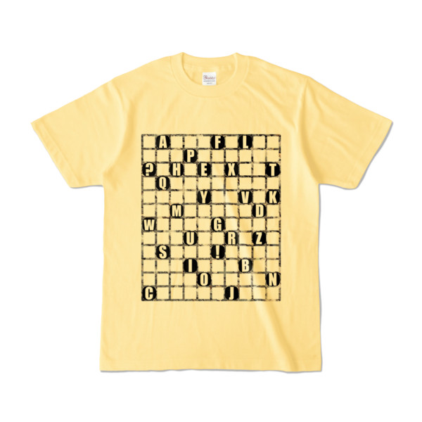 Tシャツ   ライトイエロー   ALPHABET_GRAVEL