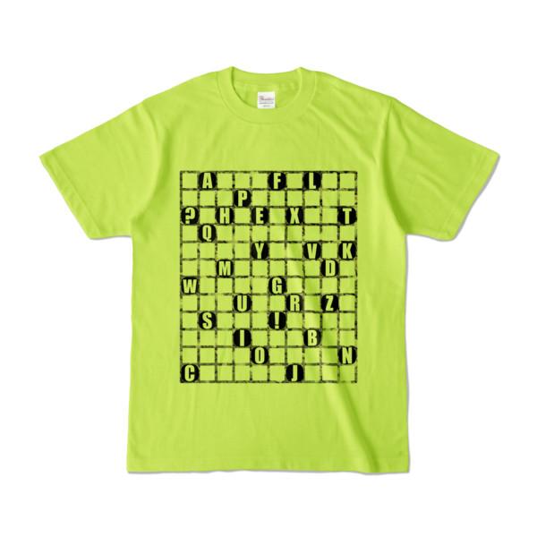 Tシャツ | ライトグリーン | ALPHABET_GRAVEL