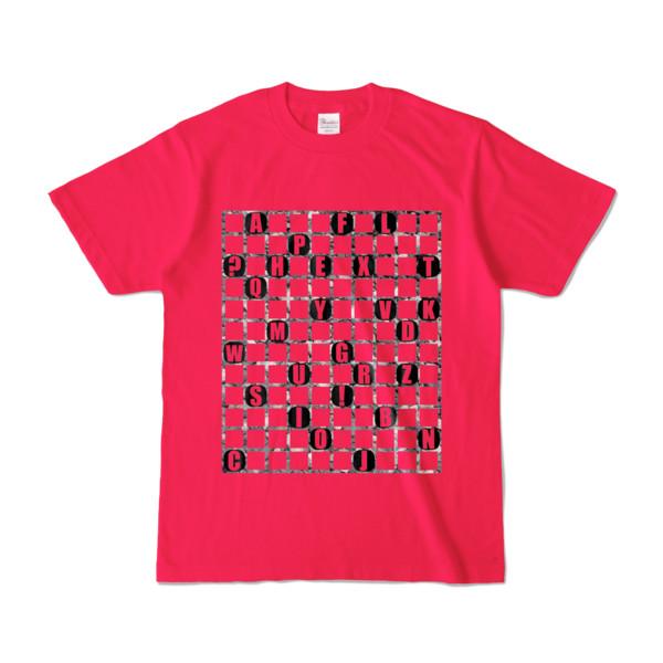 Tシャツ   ホットピンク   ALPHABET_GRAVEL