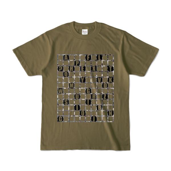 Tシャツ | オリーブ | ALPHABET_GRAVEL
