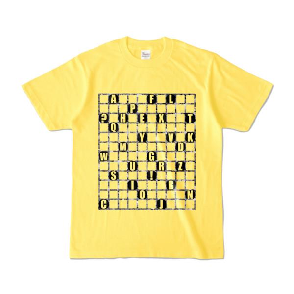 Tシャツ   イエロー   ALPHABET_GRAVEL