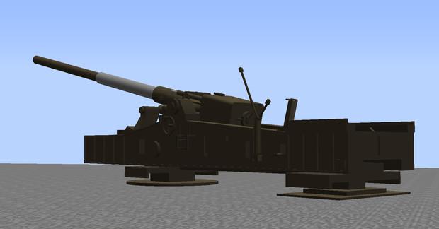 M65 280mmカノン砲 改良中