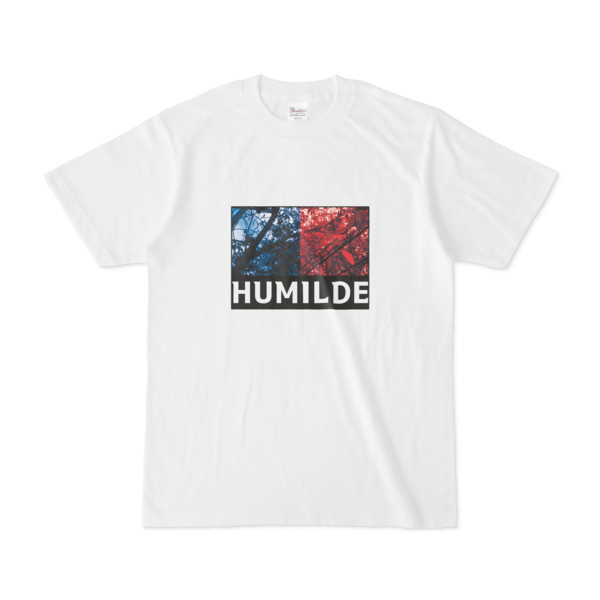 Tシャツ   ホワイト   HUMILDE_Blue&Red