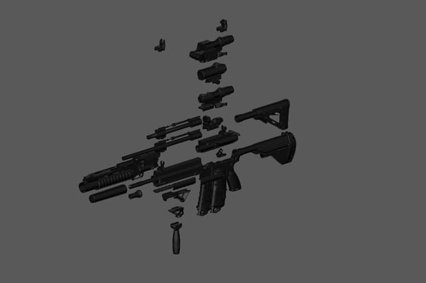 【MMD】HK416 CustomKit for MMD【モデル配布(停止)】