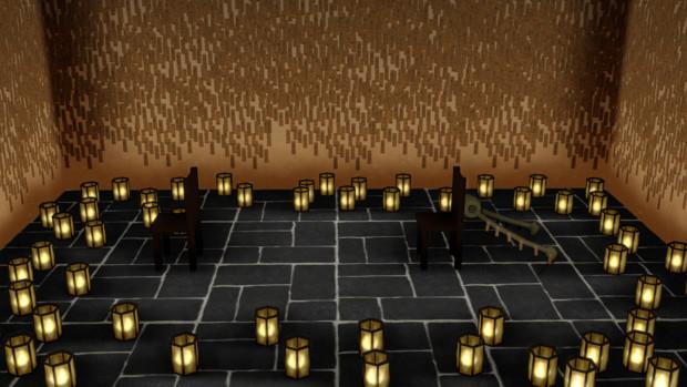 【MMD呪術廻戦】 隔離室(アニメ1,2話、0巻冒頭等の部屋)【MMDステージ配布あり】
