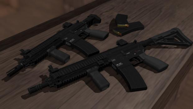 HK416 & HK416C【MMDモデル配布】