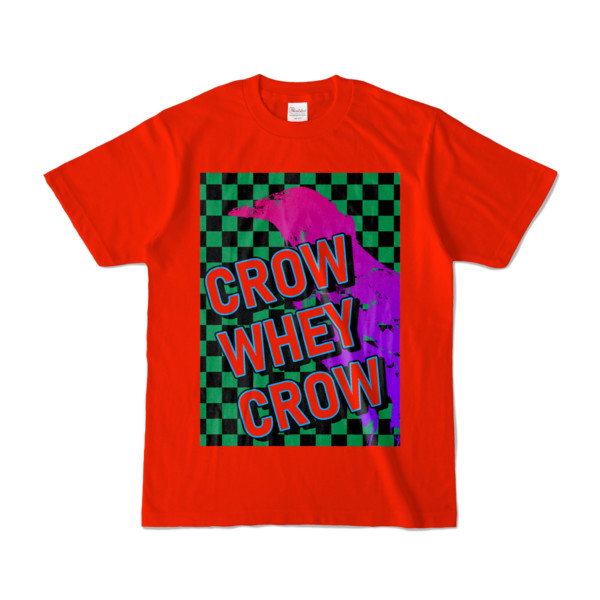 Tシャツ   レッド   CROW_WHEY_CROW