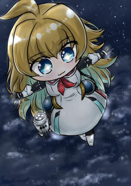 夜空を飛ぶララミア