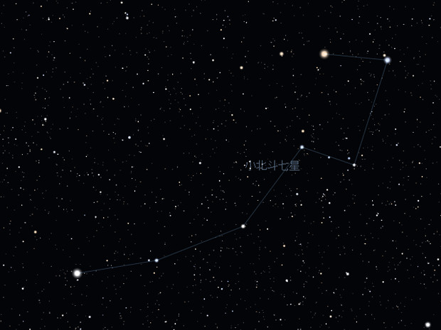 Stellarium 小北斗七星