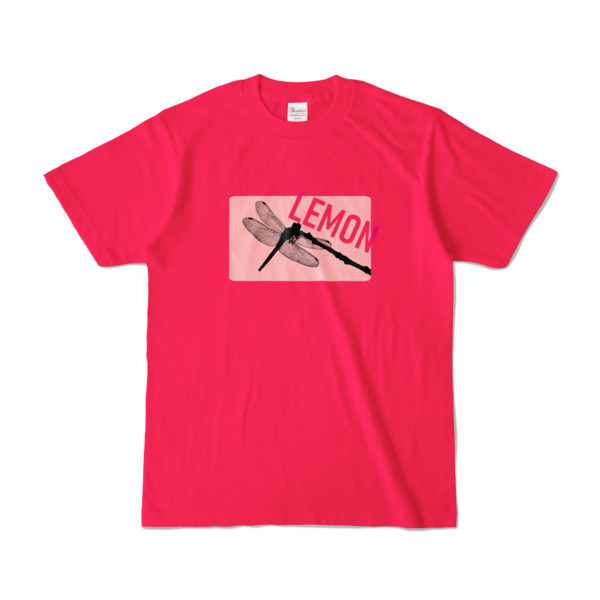Tシャツ   ホットピンク   Dragonfly_LEMON