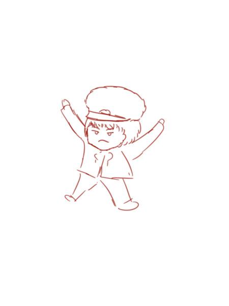 【オリキャラ】大の字【イラスト】