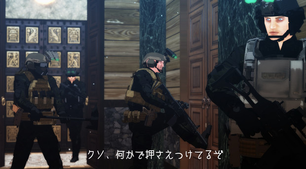 [MMD戦線] ドアとの闘い