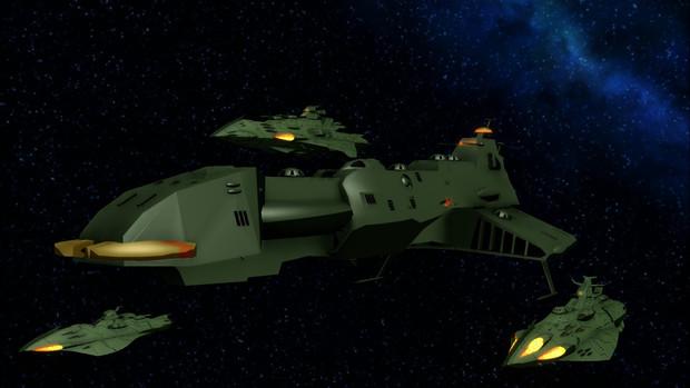 【ヤマトMMD】大型戦闘艦