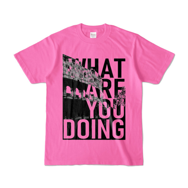 Tシャツ | ピンク | 何してるColosseo
