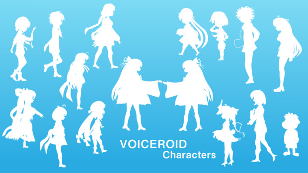 VOICEROID全員分の影絵を作りました