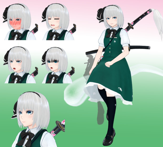 魂魄妖夢風モデル