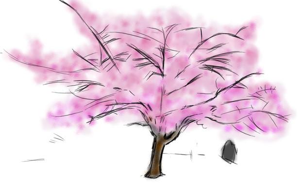 桜の木 猫の背中テツテツ さんのイラスト ニコニコ静画 イラスト