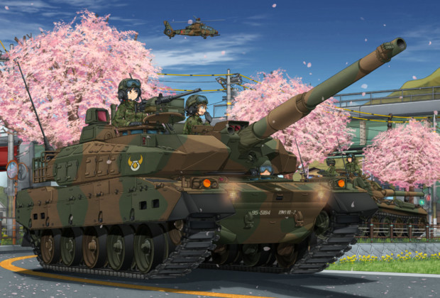 桜並木の戦車道