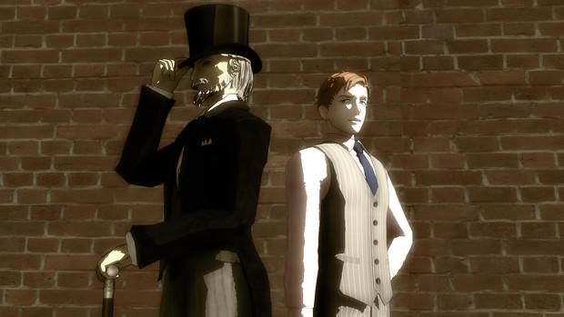 路地裏の紳士達その2