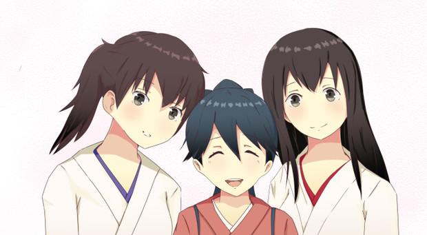 加賀さんと鳳翔さんと赤城さん♪