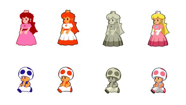 【MMD-OMF11】ピーチ姫&キノピオセット【モデル配布】