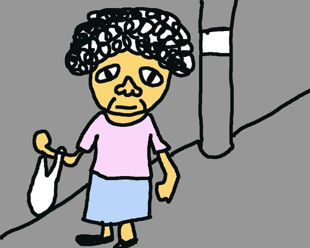 おばちゃんを描いてみた