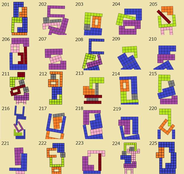 ニコニコタワー ブロックの組み合わせ例(201~225)