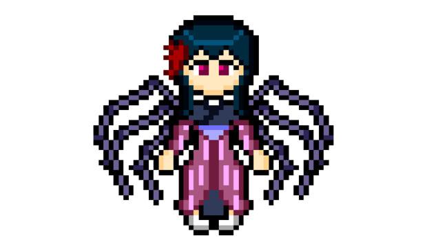 【ドット絵】邪眼の姫の物語のリンゼロッテ(スパイディーヴァ)