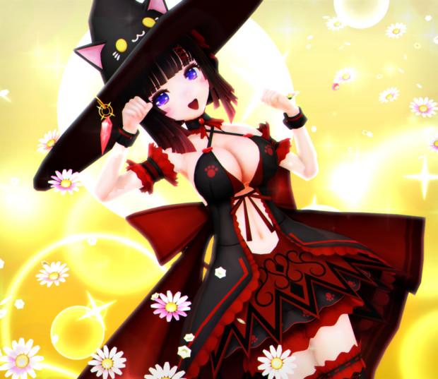 かわいい魔法少女 くろねちゃん…♡