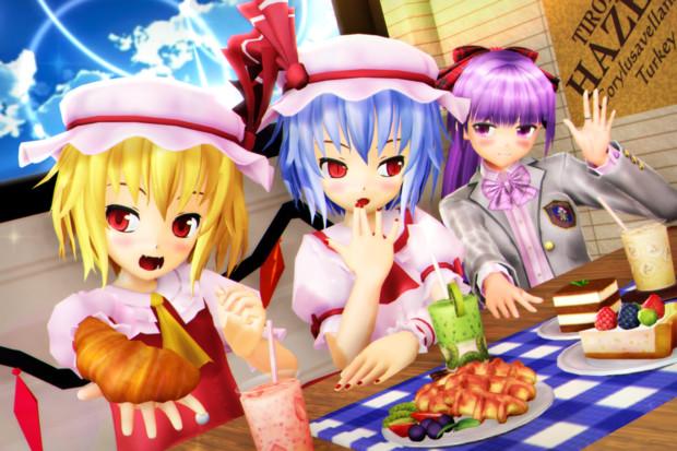 【レミフラ!】パチュリーお姉さんも一緒に カフェタイム♪